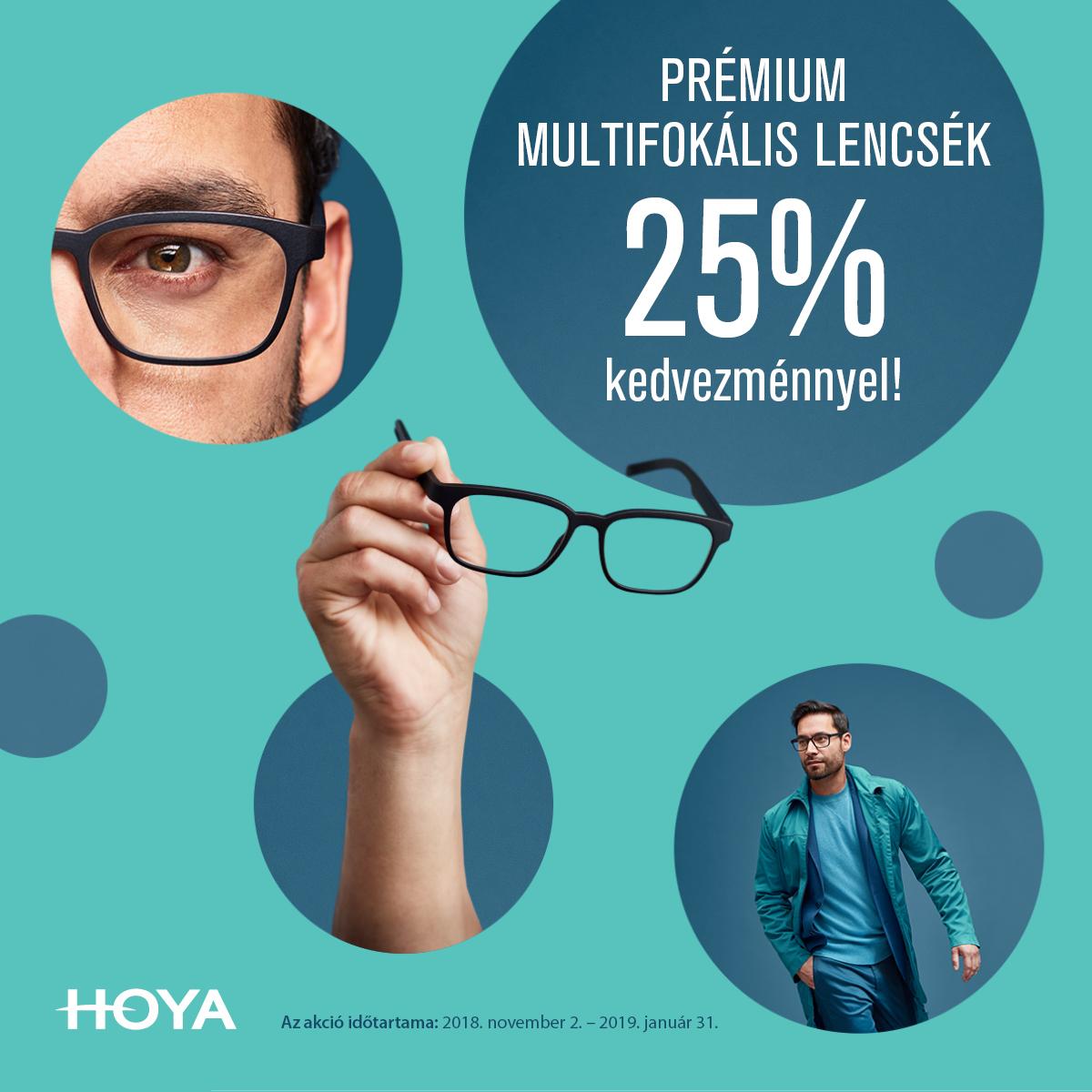 Prémium multifokális lencsék 25 % kedvezménnyel!