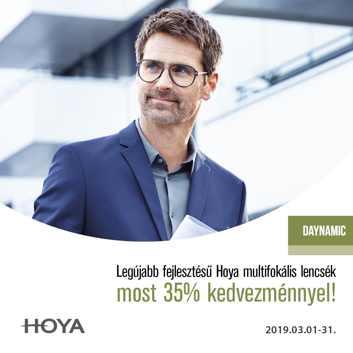 A Hoya új  multifokális lencséje 35% kedvezménnyel !