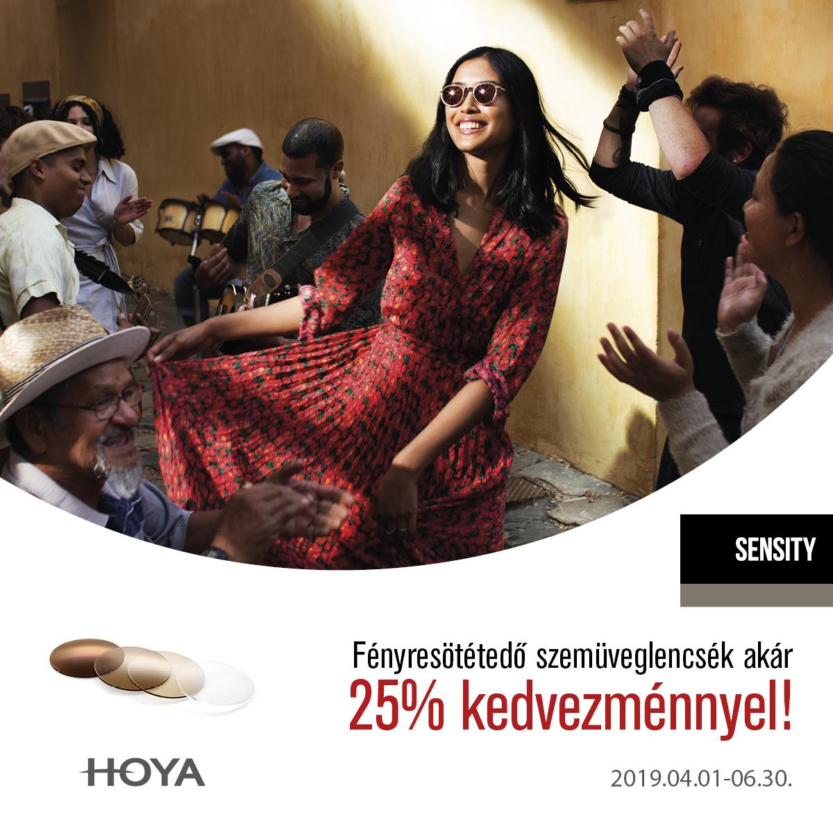 A Hoya új sensity lencséi most akár 25 % kedvezménnyel!