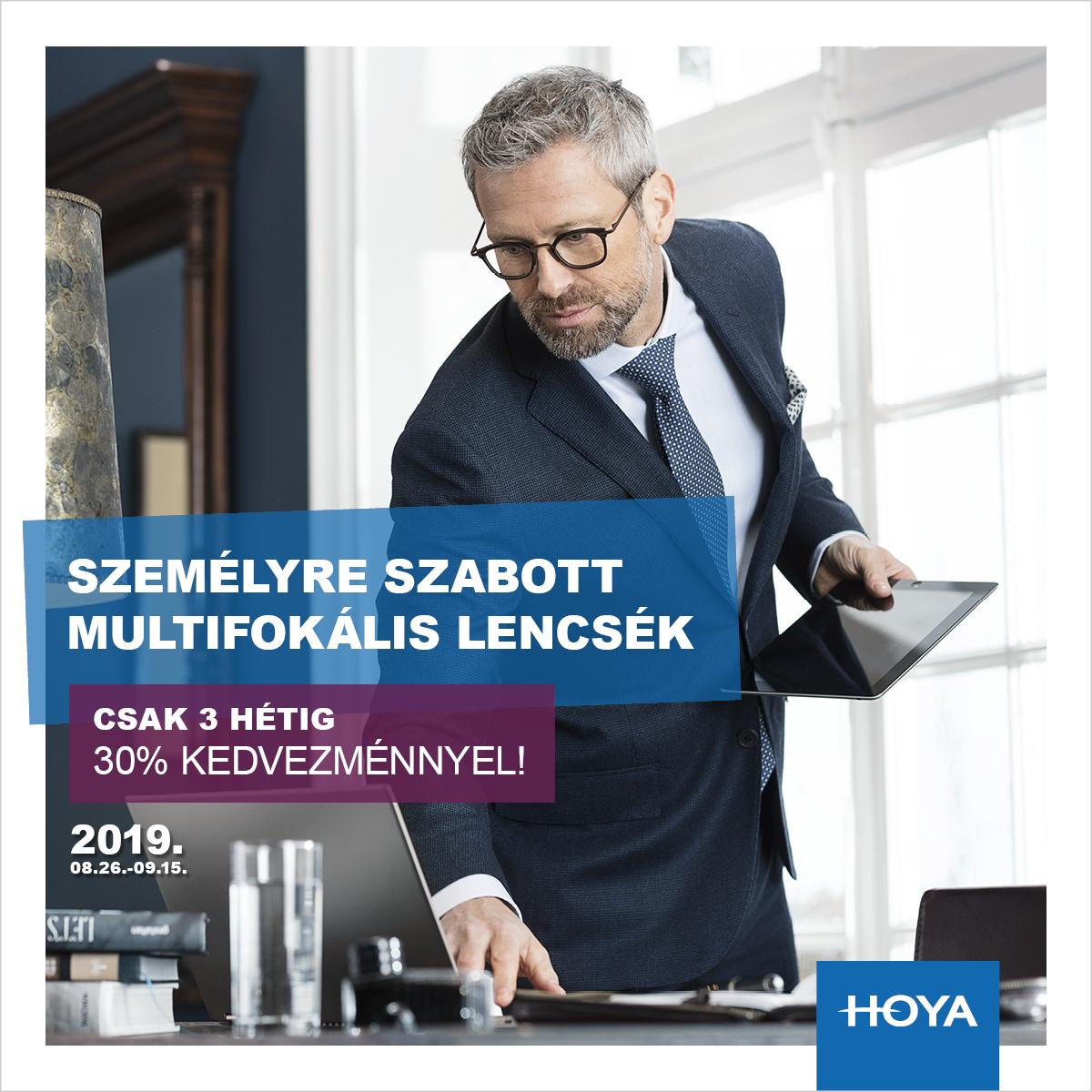 Hoya prémium multifokális  szemüveglencsék 30% KEDVEZMÉNNYEL!