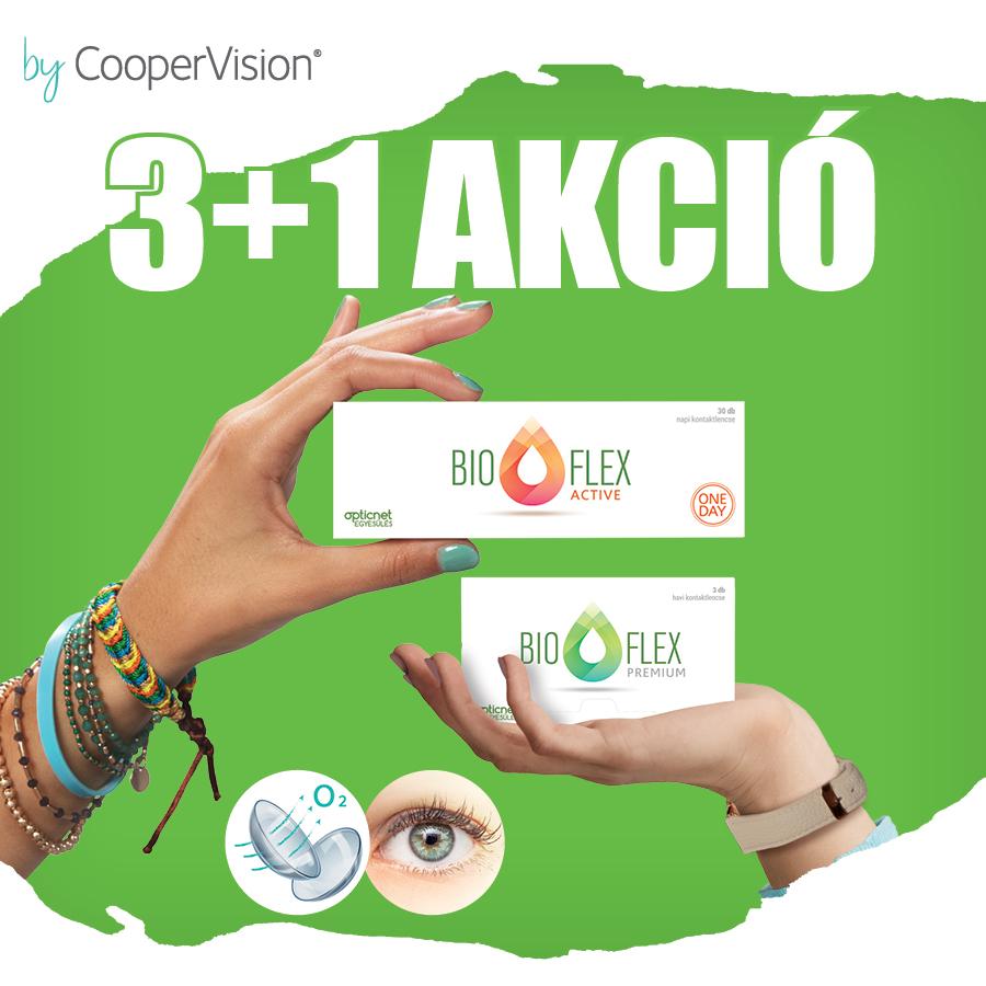 Bioflex 3+1 kontaktlencse akció