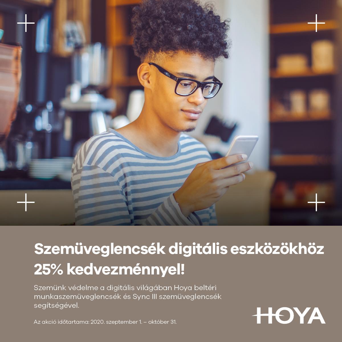 Szemüveglencsék digitális eszközökhöz 25% kedvezménnyel !