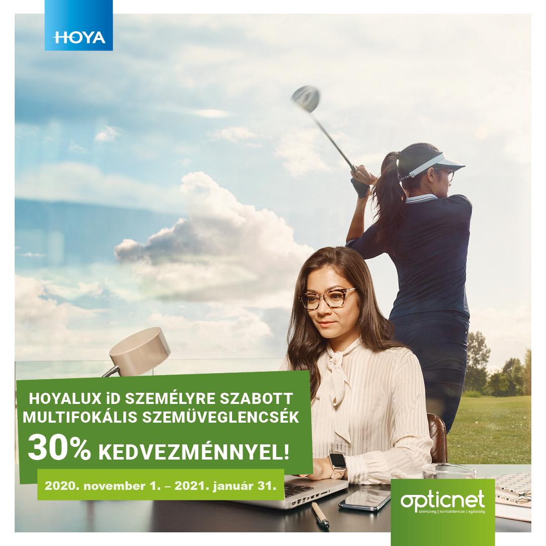 Hoyalux iD személyre szabott multifokális szemüveglencsék 30% kedvezménnyel
