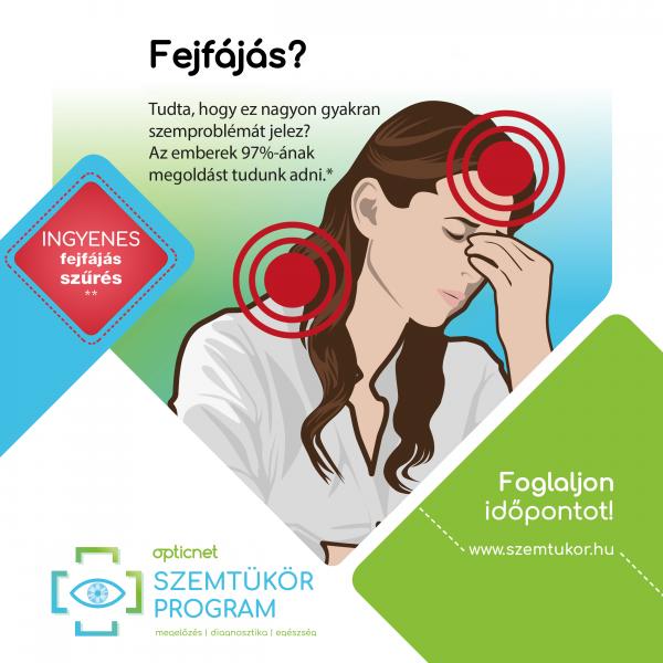 Opticnet Szemtükör-program .  Új szűrővizsgálat a fejfájás okainak kiderítésére !